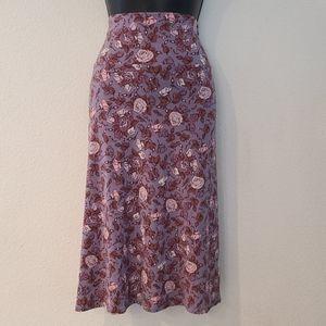LULAROE Floral Midi Skirt Size 3xl